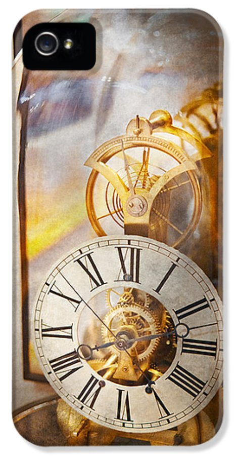 Clockmaker IPhone 5 Case featuring the photograph Clockmaker - A Look Back In Time by Mike Savad