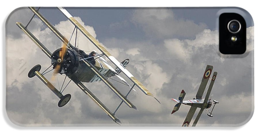 Aircraft IPhone 5 Case featuring the digital art Close Encounter by Pat Speirs