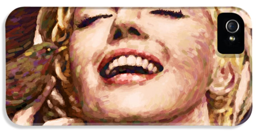 1926s IPhone 5 Case featuring the painting Close Up Beautifully Happy by Atiketta Sangasaeng