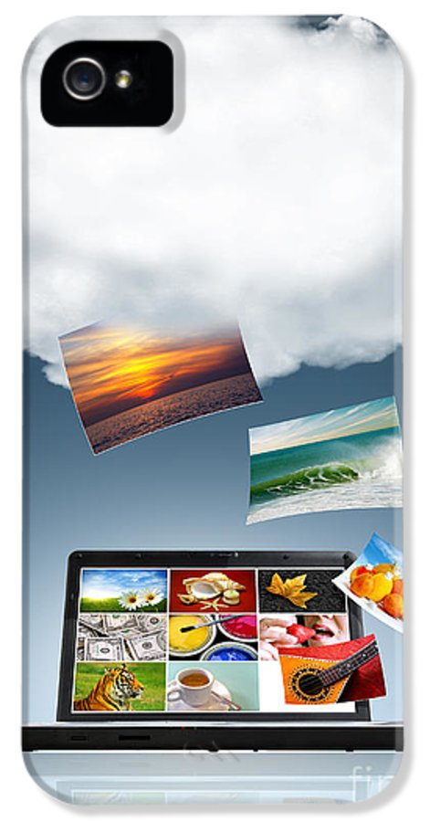 Access IPhone 5 Case featuring the photograph Cloud Technology by Carlos Caetano