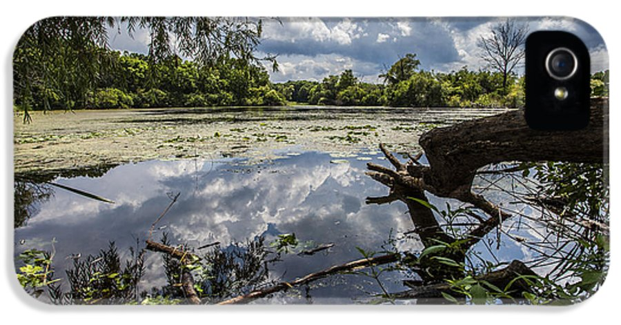 Www.cjschmit.com IPhone 5 Case featuring the photograph Clouds On The Water by CJ Schmit