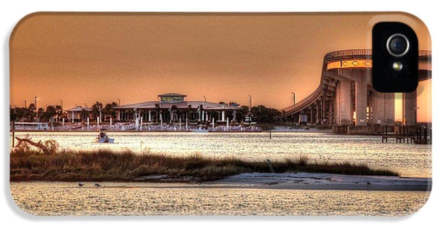 Alabama Photographer IPhone 5 Case featuring the digital art Cobalt And Bridge by Michael Thomas