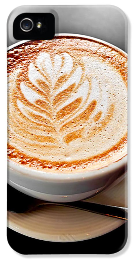 Coffee IPhone 5 Case featuring the photograph Coffee Latte With Foam Art by Elena Elisseeva
