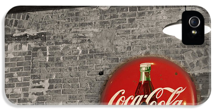 Inside IPhone 5 Case featuring the photograph Coke Cola Sign by Paulette B Wright