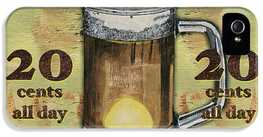 Food IPhone 5 Case featuring the painting Cold Beer by Debbie DeWitt