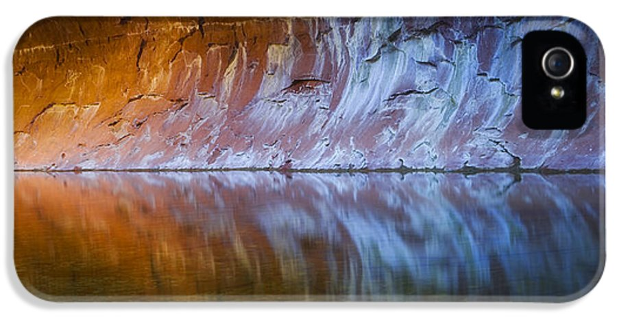 West Fork Oak Creek Canyon IPhone 5 Case featuring the photograph Cold Fire by Peter Coskun