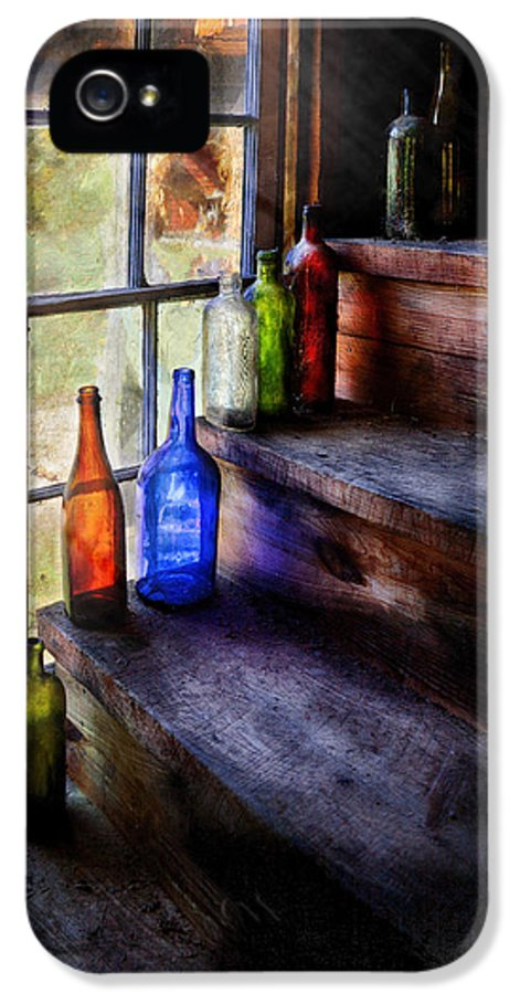 Savad IPhone 5 Case featuring the photograph Collector - Bottle - A Collection Of Bottles by Mike Savad