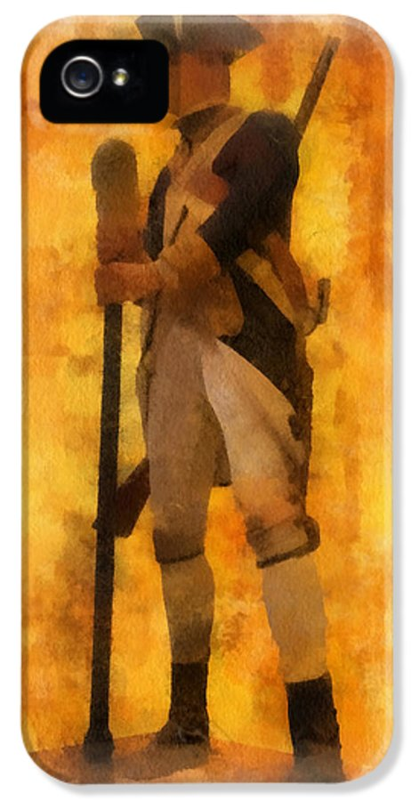 Soldier IPhone 5 Case featuring the photograph Colonial Soldier Photo Art by Thomas Woolworth