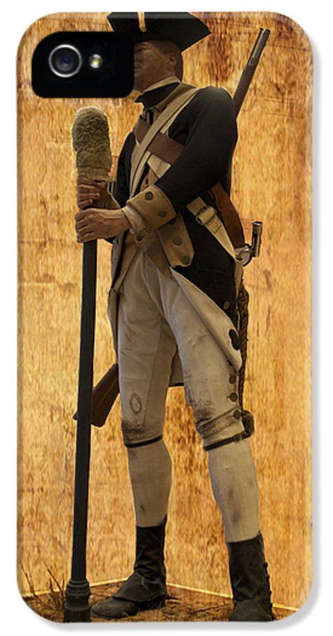 Soldier IPhone 5 Case featuring the photograph Colonial Soldier by Thomas Woolworth