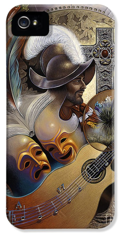Culture IPhone 5 Case featuring the painting Color Y Cultura by Ricardo Chavez-Mendez