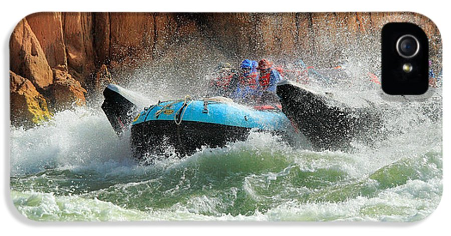 America IPhone 5 Case featuring the photograph Colorado River Rafters by Inge Johnsson