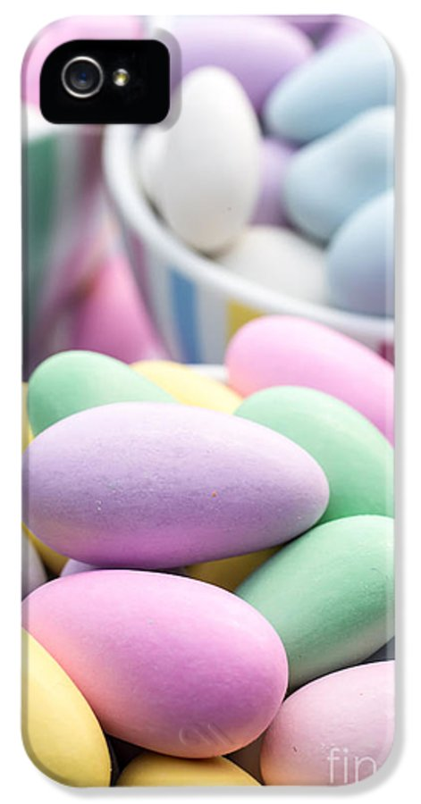 Food IPhone 5 Case featuring the photograph Colorful Pastel Jordan Almond Candy by Edward Fielding