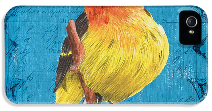 Bird IPhone 5 Case featuring the painting Colorful Songbirds 4 by Debbie DeWitt