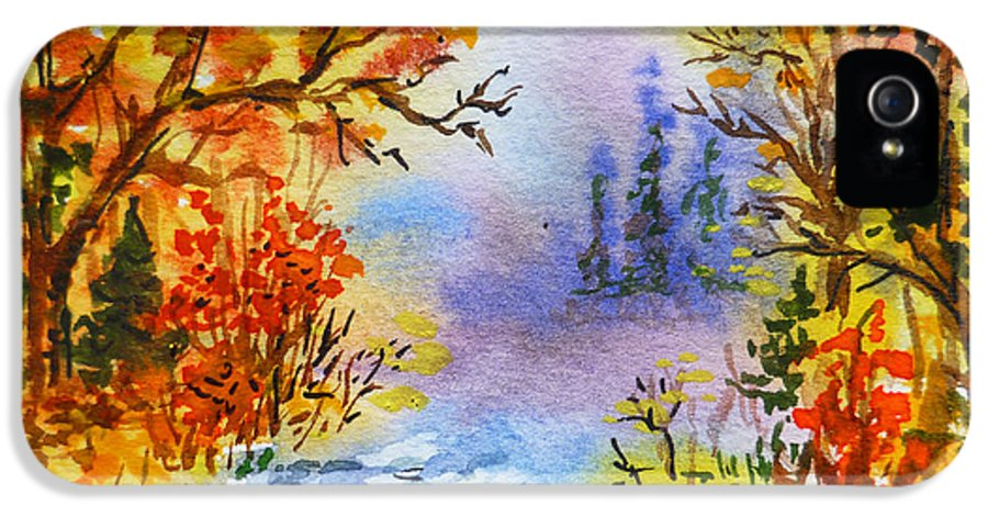 Russia IPhone 5 Case featuring the painting Colors Of Russia Autumn by Irina Sztukowski