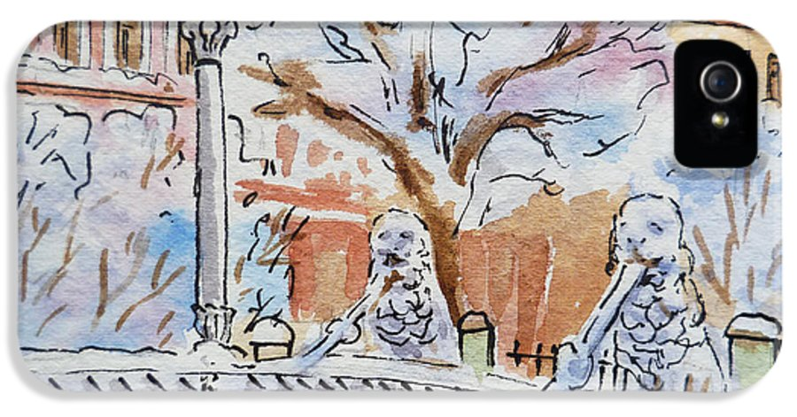 Russia IPhone 5 Case featuring the painting Colors Of Russia Winter In Saint Petersburg by Irina Sztukowski