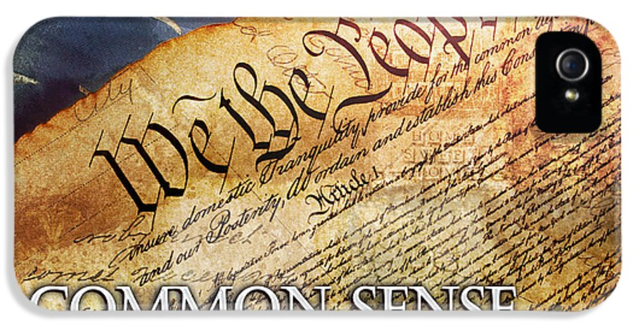Constitution IPhone 5 Case featuring the digital art Common Sense by Evie Cook