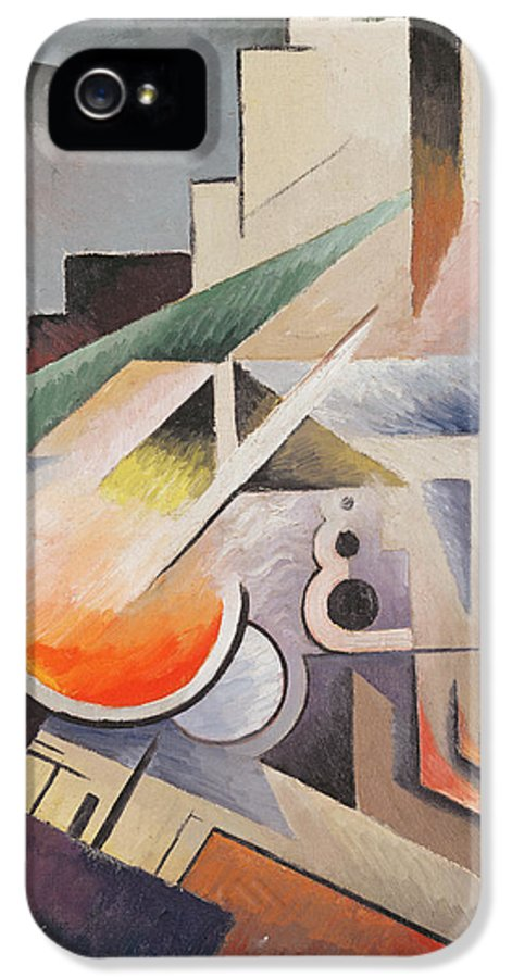 Modern IPhone 5 Case featuring the painting Composition by Viking Eggeling