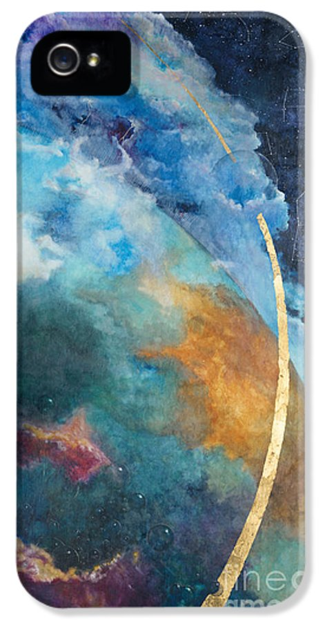 Sky IPhone 5 Case featuring the painting Constellations by Cheryl Myrbo