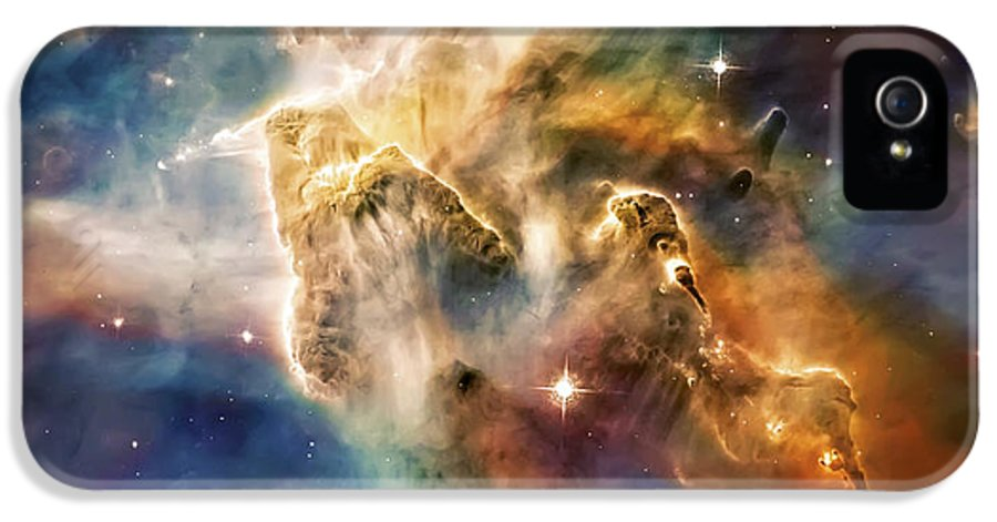 Universe IPhone 5 Case featuring the photograph Cool Carina Nebula Pillar 4 by Jennifer Rondinelli Reilly - Fine Art Photography