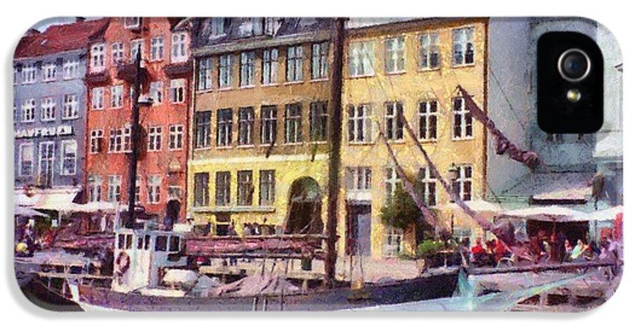 Scandinavia IPhone 5 Case featuring the painting Copenhagen by Jeff Kolker