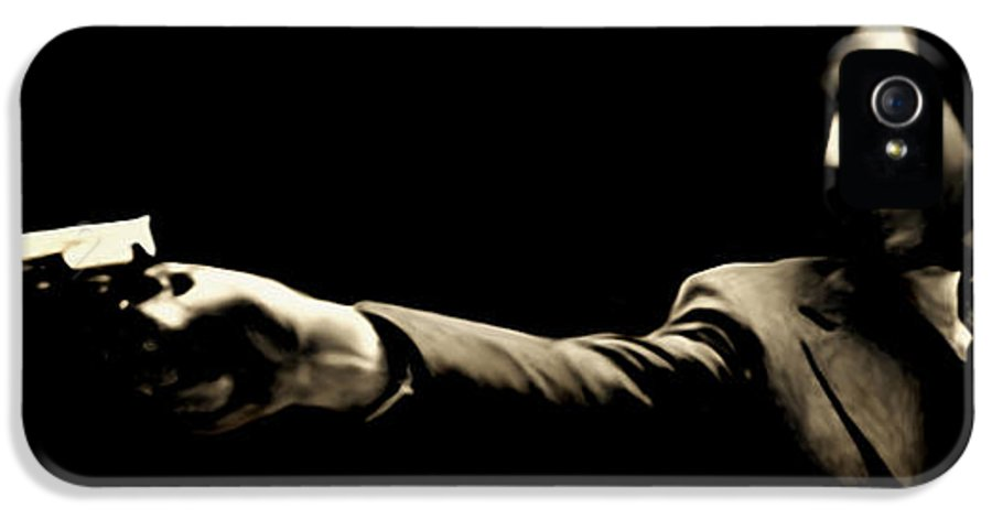 Mafia IPhone 5 Case featuring the painting Corleone by Laurence Adamson