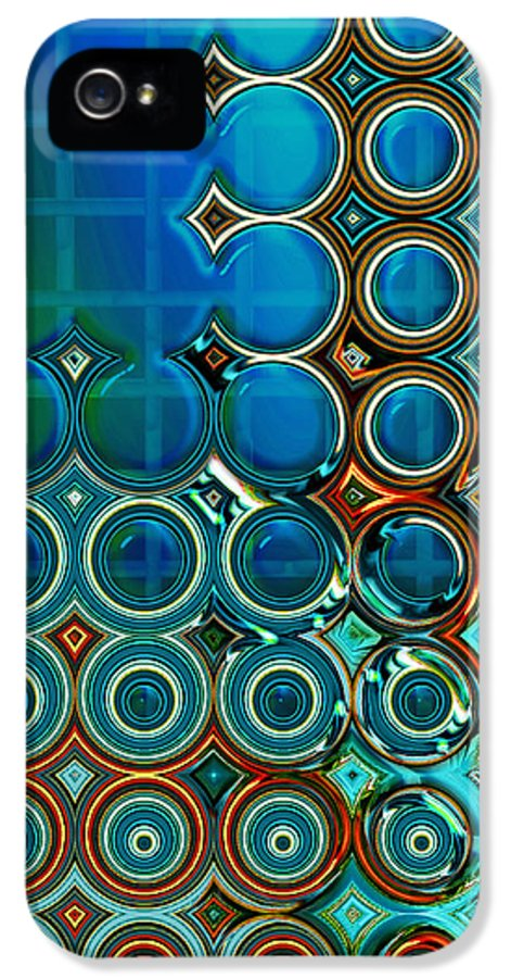 Abstract IPhone 5 Case featuring the digital art Cornered by Wendy J St Christopher