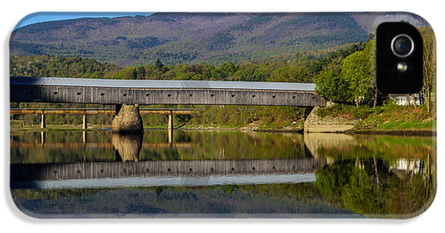 Cornish IPhone 5 Case featuring the photograph Cornish Windsor Covered Bridge by Edward Fielding