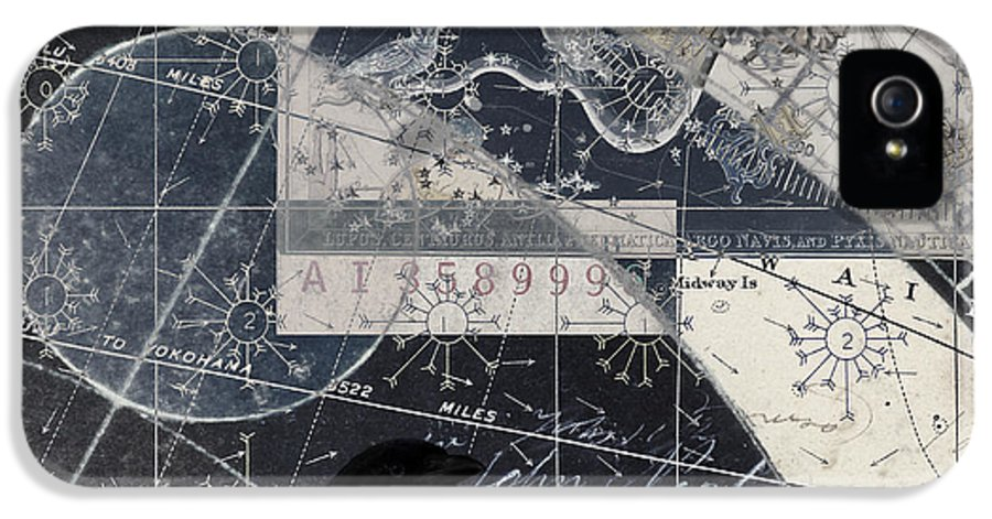 Crow IPhone 5 Case featuring the photograph Corvus Star Chart by Carol Leigh