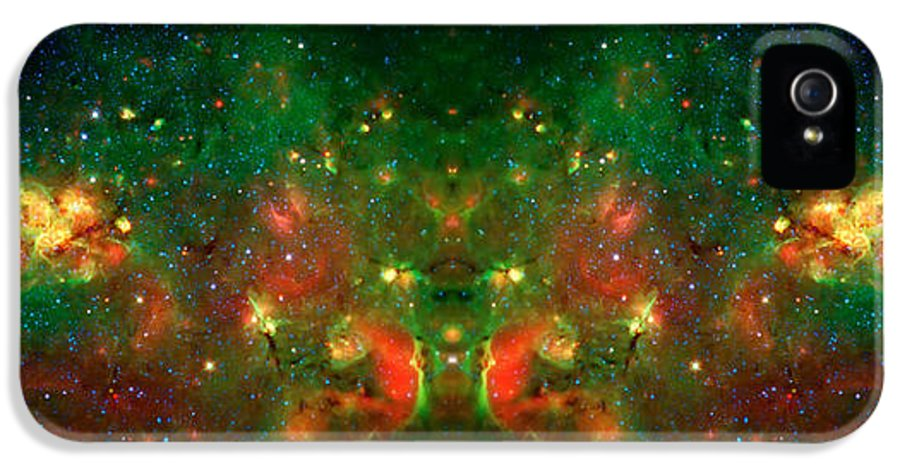 Universe IPhone 5 Case featuring the photograph Cosmic Reflection 1 by Jennifer Rondinelli Reilly - Fine Art Photography