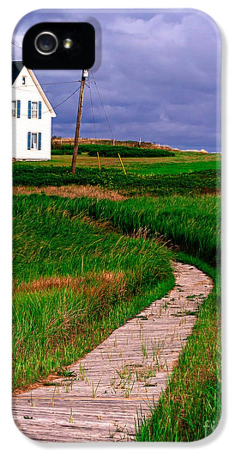 Canada IPhone 5 Case featuring the photograph Cottage Among The Dunes by Edward Fielding