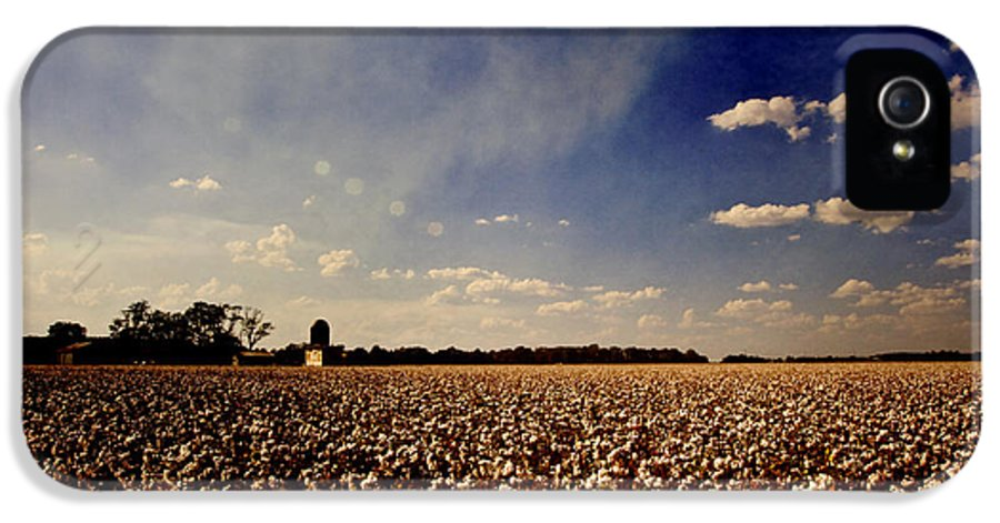 Cotton IPhone 5 Case featuring the photograph Cotton Field by Scott Pellegrin