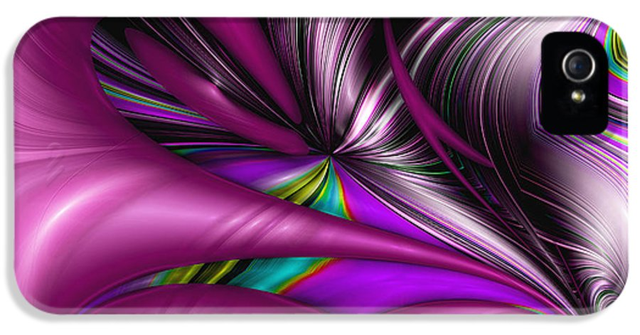 Abstract IPhone 5 Case featuring the digital art Counterpoint by Wendy J St Christopher