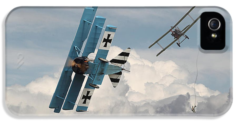 Aircraft IPhone 5 Case featuring the digital art Counterstrike by Pat Speirs