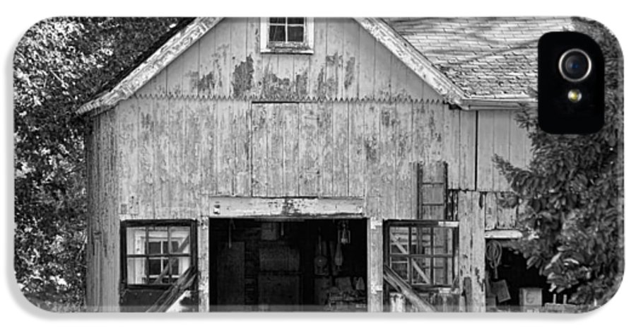 Self IPhone 5 Case featuring the photograph Country - Barn Country Maintenance by Mike Savad