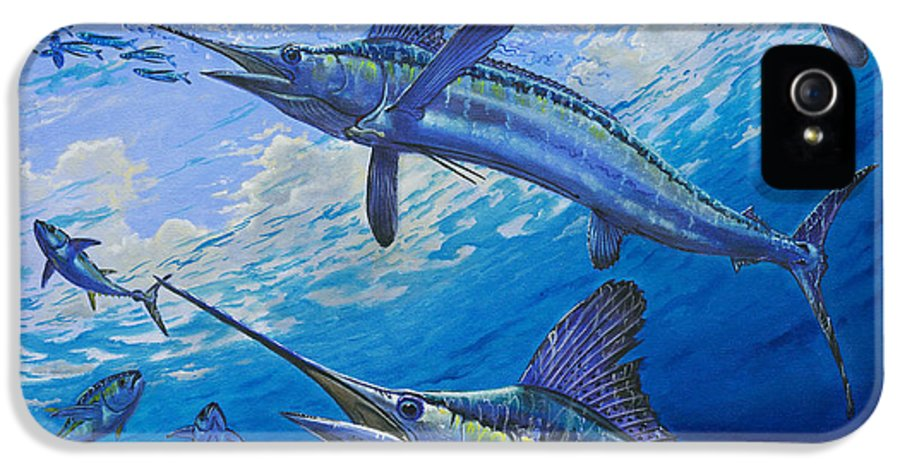 White Marlin IPhone 5 Case featuring the painting Covered Up Off0035 by Carey Chen