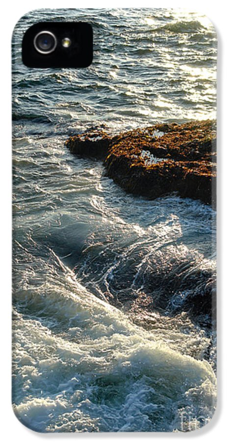 Maine IPhone 5 Case featuring the photograph Crashing Waves by Olivier Le Queinec