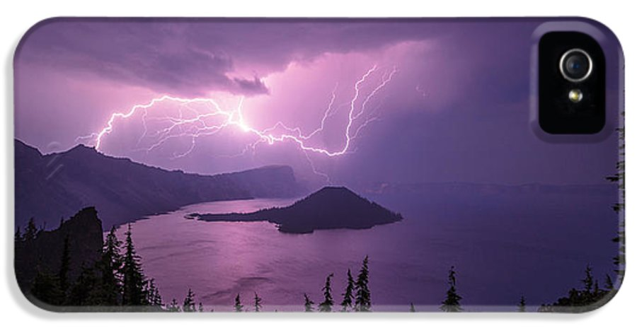 Crater Storm IPhone 5 Case featuring the photograph Crater Storm by Chad Dutson
