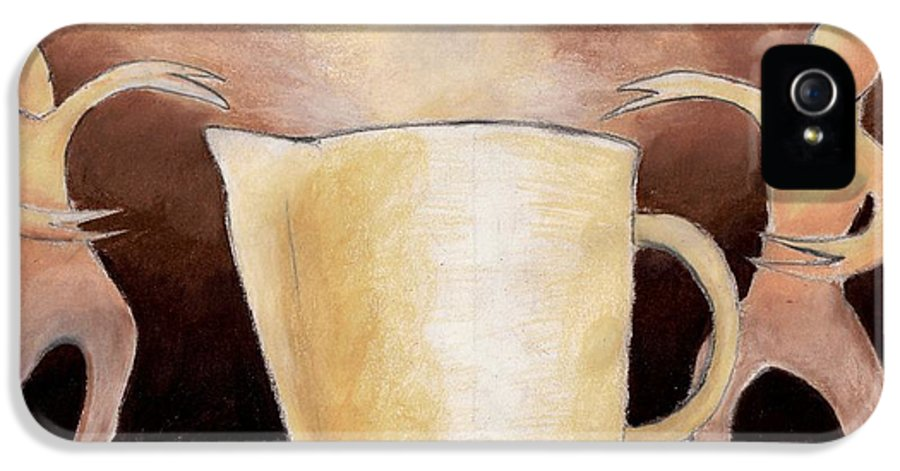 Cup IPhone 5 Case featuring the drawing Creator Of The Coffee by Keith Gruis