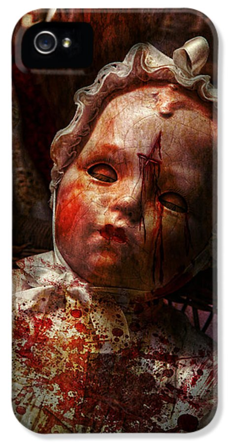 Doll IPhone 5 Case featuring the photograph Creepy - Doll - It's Best To Let Them Sleep by Mike Savad