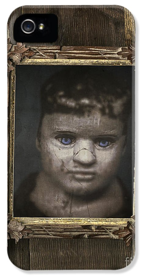 Child IPhone 5 Case featuring the photograph Creepy Relative by Edward Fielding