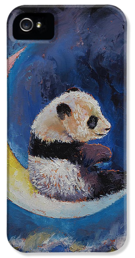 Children's Room IPhone 5 Case featuring the painting Crescent Moon by Michael Creese