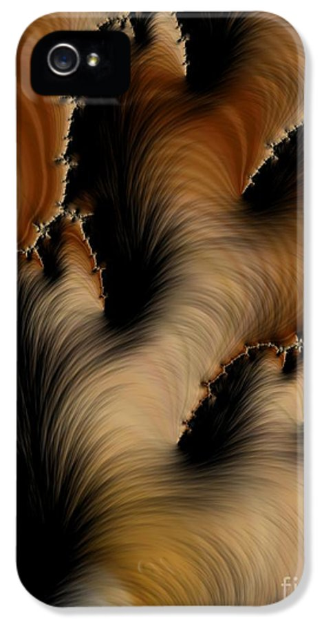 Pattern IPhone 5 Case featuring the digital art Crevasses by Heidi Smith
