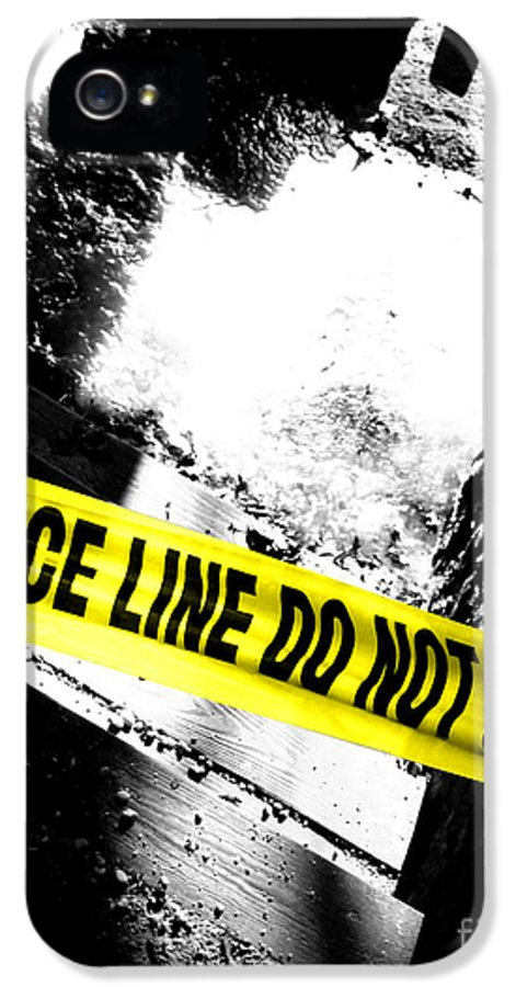 Crime IPhone 5 Case featuring the photograph Crime Scene by Olivier Le Queinec
