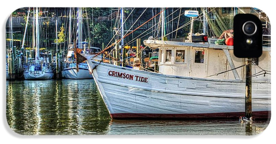 Water IPhone 5 Case featuring the photograph Crimson Tide In The Sunshine by Michael Thomas