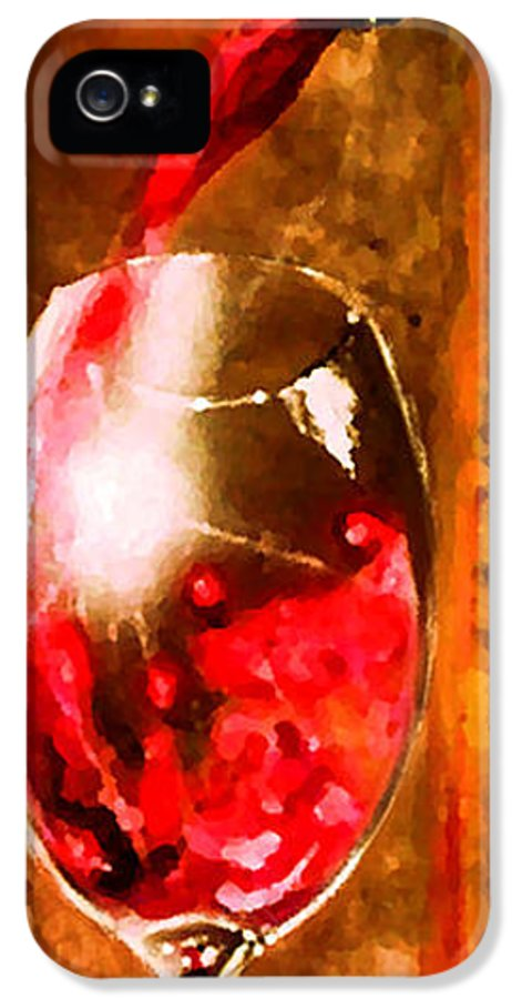 Vino IPhone 5 Case featuring the painting Cristallo 2 by Marcello Cicchini