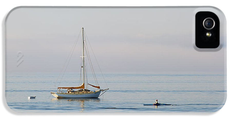 Sailboat IPhone 5 Case featuring the photograph Crossing Paths by Mike Dawson
