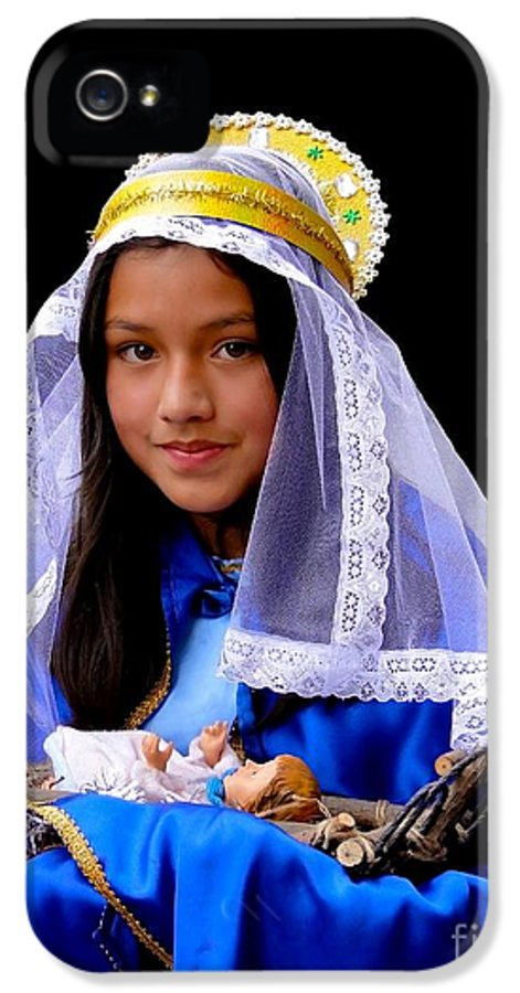 Girl IPhone 5 Case featuring the photograph Cuenca Kids 331 by Al Bourassa