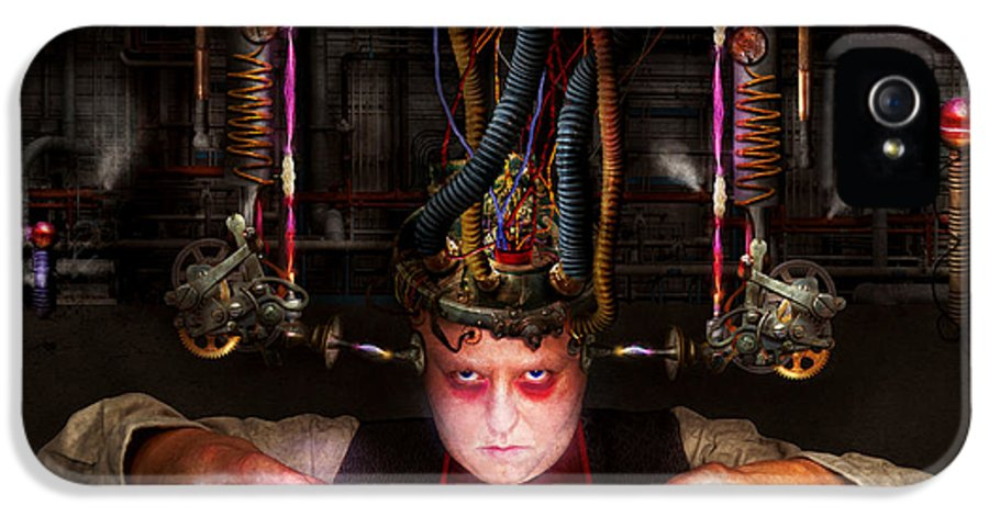 Dark Side IPhone 5 Case featuring the photograph Cyberpunk - Mad Skills by Mike Savad
