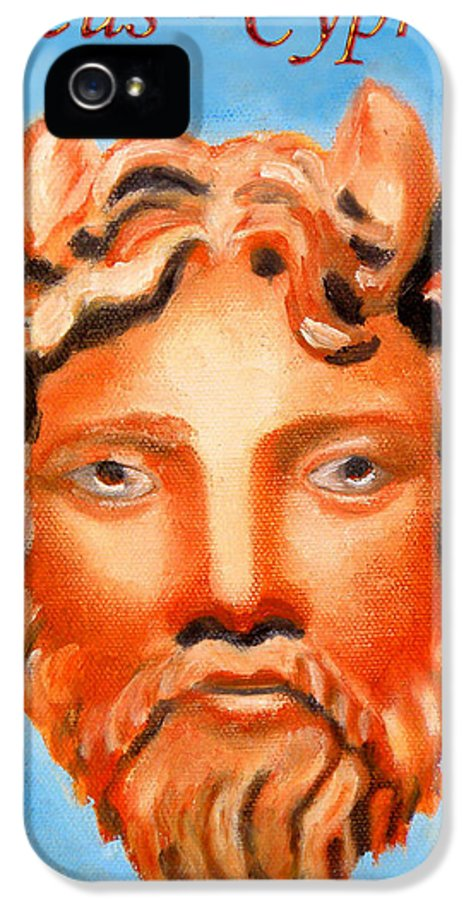 Cyprus IPhone 5 Case featuring the painting Cyprus - Zeus by Augusta Stylianou