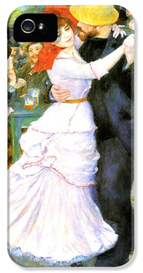 Pierre-auguste Renoir IPhone 5 Case featuring the digital art Dance At Bougival by Pierre Auguste Renoir